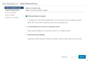 VMware networking VMkernel port configuration