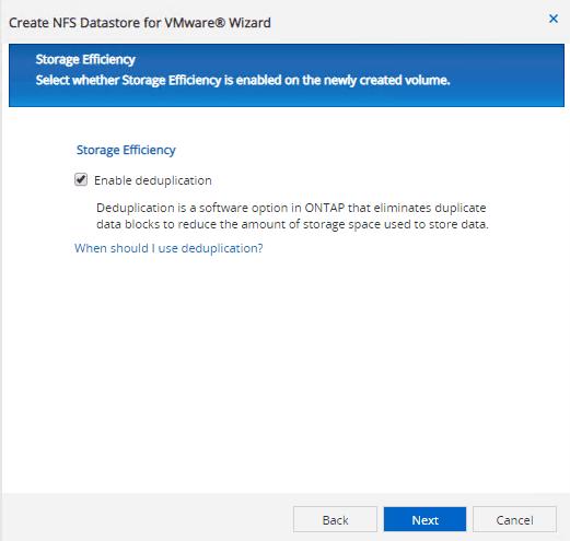 create datastore for vmware netapp nfs