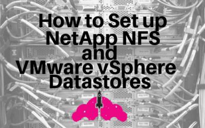 netapp nfs vmware datastore