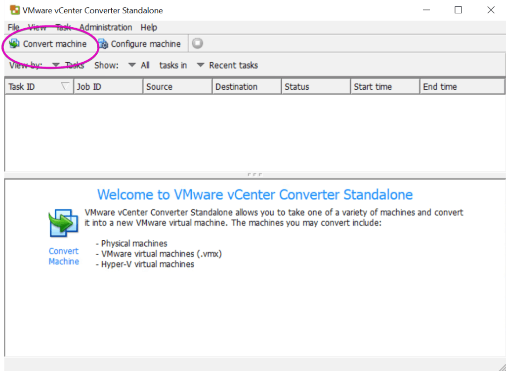 Kali Linux VMware Converter