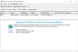 running VMware Converter Kali Linux