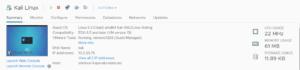 Kali Linux running in VMware ESXi