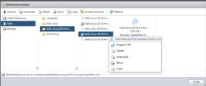 register vmx file Kali Linux vmware
