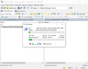 upload Kali Linux VMware ESXi winscp