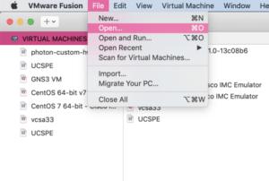 Kali Linux VMware Fusion open vm