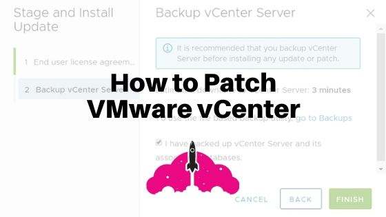 how to patch vcenter update vmware