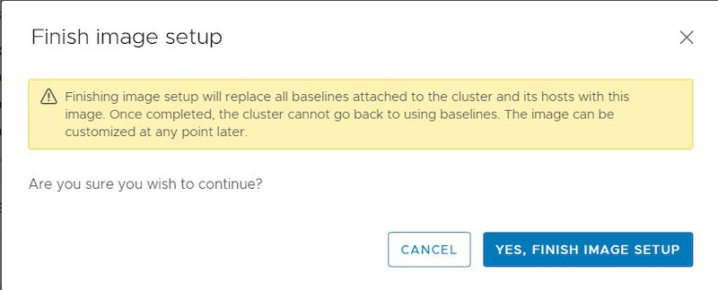 no baseline in vsphere lifecycle management