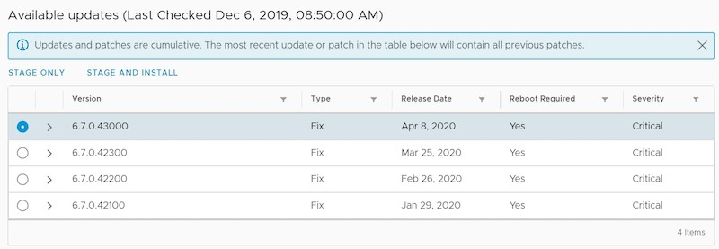 vmware vcenter patches available