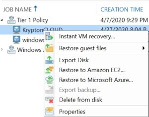 veeam external repository azure