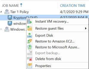 veeam external repository azure