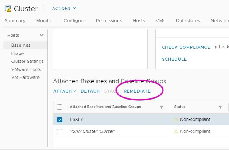 vsphere lifecycle manager remediate