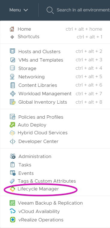vSphere lifecycle manager
