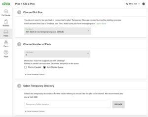 MacBook chia plotting options