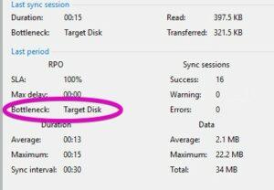 veeam cdp storage bottleneck