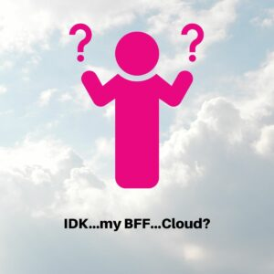 person choosing VMware cloud solution
