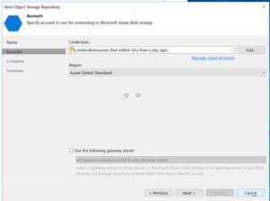 add veeam object storage repository