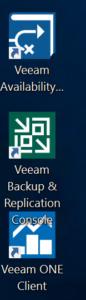 veeam trifecta product logos
