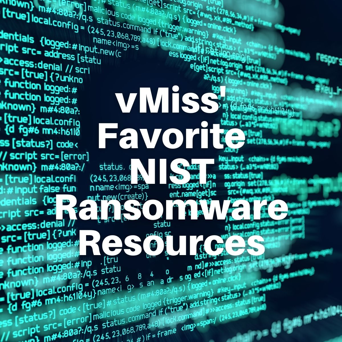 nist ransomware resources